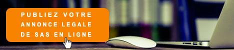 Créer et publier votre annonce légale de SAS en ligne
