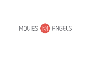movies angels logo fond blanc